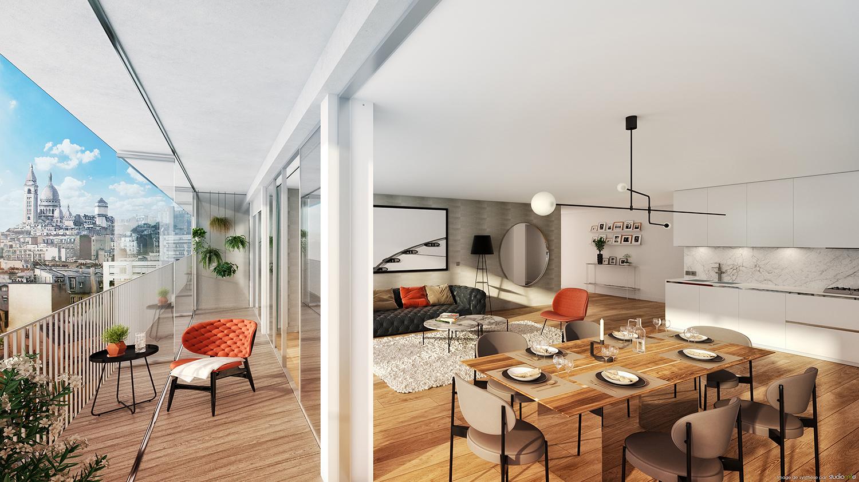 3 ambiances pour un appartement à Paris