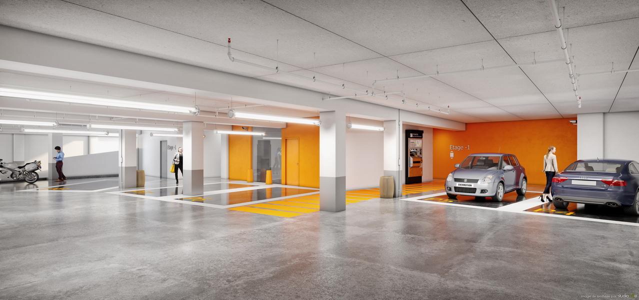 Parking sous-terrain à Liège